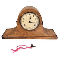Vintage Waterbury Mantel Clock Tambour Case  Running & Striking