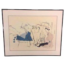 Vintage Ltd Ed Print by Orit Hofshi in Frame 1987 #2 of 3