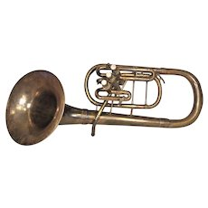 Vintage 3 Valve Pan American Euphonium Baritone Elkhart IN No Case or Mouthpiece