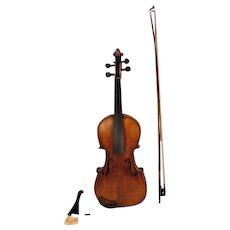 Vtg Francesco Ruggeri Model Violin Cremona 1663 w/ Faux Leather Case and/ Josef Richter Violin Bow