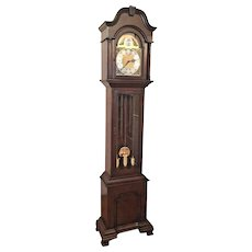 Vintage Herschede Grandfather Clock Westminster Chimes Runs Strikes & Chimes! Nice Case New Hermle Weights Lady Beth Model No 627