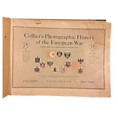 Antique Book Collier's Photographic History of the European War 1915 F Collier & Sons