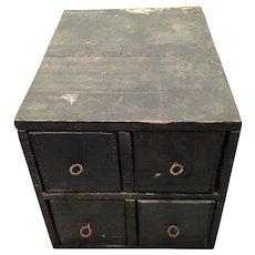 Old Smokeless Powder Box Converted to Storage Box w/ Wood Kraft Cheese Drawers