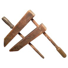 Antique Wood Clamp / Vise