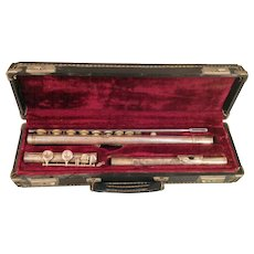 Vintage Alexandre Paris Flute Nickel Plated with Case Serial No 28711 #s match