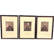 Antique Set of Lithographs of Military Leaders George Meade William Sherman O Howard 1866