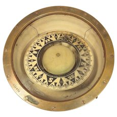 Antique Kelvin & Wilfrid O White Brass Ship Compass Boston MA Works Serial # 106879