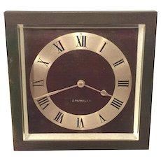 Antique Art Deco Bronze Clock J E Caldwell & Co Beveled Glass Runs  Maybe a Chelsea