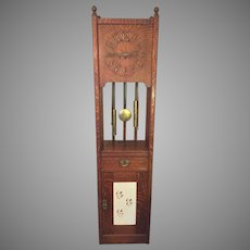 Vintage Mission Arts/Crafts Craftsman Style Grandfather Clock Junghans B13 Movement for Clock Separate Movement to Run Pendulum!