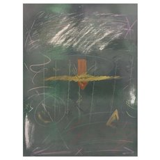 Vtg Lee Newman Print Monoprint 2 Legend # 3 Framed & Matted