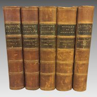 5 Volume Set History of England from the Accession of James II 1861 by Thomas Macaulay Antique Books
