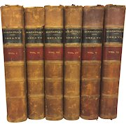 Critical Historical and Miscellaneous Essays 6 Vol Set 1864 by Lord Macaulay Sheldon & Company New York Antique Books