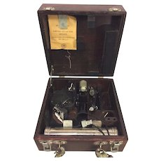 Vintage Fairchild A10 or A10A Sextant in Case Compass Type Piece Air Forces US Army