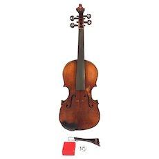 Antique E Martin Violin (Germany)w/ Case   2 Piece Belly & Back Elegant Tuner Pegs