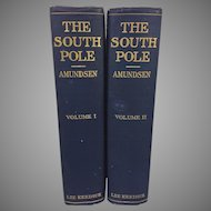 The South Pole London 1913 Roald Amundsen 2 Volumes New York Lee Kedrick 8VO First Edition The American Issue