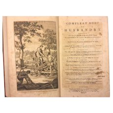 The Compleat Body of Husbandry by Thomas Hale 1756 First Edition  Folio 12 Plates Modern Buckram Covers