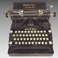 Antique Royal Standard No 1 Typewriter Nice Stenciling & Finish