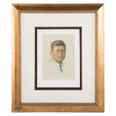 """Vtg Norman Rockwell """"John F Kennedy"""" Lithograph Artist Proof Pencil Signed 1 of 60 1976 Very Similar to Image on Saturday Evening Post"""