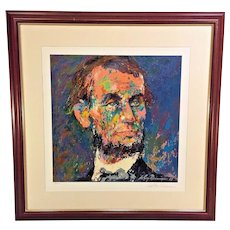 "Vtg Leroy Neiman ""Abraham Lincoln"" Serigraph  Limited Edition #711 of 750"
