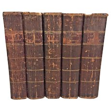The Life of George Washington by John Marshall 5 Vol Set Prt/Publ by C P Wayne of Philadelphia Calf Leather Covers 1804 to 1805 1st US Edition