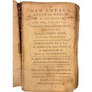 A New Voyage Round the World Performed by Captain James Cook by John Hawkesworth 1774 Vol 1 Only Printed by John Rivington New York