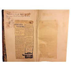 Vintage Court Ledger 1914-1918 Justice of the Peace W C Henderson Crum Lynne PA