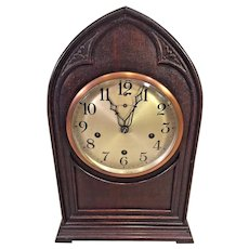 Vintage New Haven Bee Hive Cathedral Clock Westminster Chimes Running Striking and Chiming