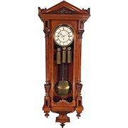 Antique Gebruder Resch Vienna Regulator Wall Clock 1878 Repeater 3 Weight Driven Not Running