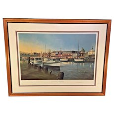 Annapolis at Twilight Limited Edition Print 1763/2000 by Paul McGehee Pencil Signed Professionally Framed and Matted Conservation Glass