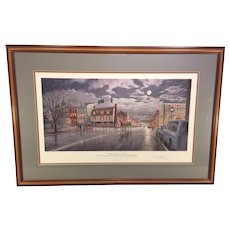 Old Town Alexandria by Moonlight Limited Edition Print by Paul McGehee Professionally Framed and Matted Conservation Glass