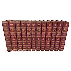 The Decline and Fall of the Roman Empire  by  Edward Gibbon Esq 12 Volumes  Beautifully Bound Leather Covers 1838 Very Nice Condition Publ John Murray London  From Estate of Descendant of General William Seward Jr.