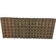 Chefs-d'Oervue du Roman Contemporain 16 Volumes 1897 to 1900 Ltd Ed Set of 1k Broken Set From Estate of Descendant of Ralph Oliver Durrell Printed on Japanese Vellum George Barrie & Son Philadelphia
