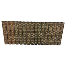 Chefs-d'Oervue du Roman Contemporain 16 Volumes 1897 to 1900 Ltd Ed Set of 1k Broken Set From Estate of Descendant of Ralph Oliver Durrell Printed on Japanese Vellum George Barrie & Son Philadelphia