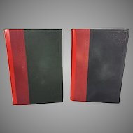 Vintage Set of 2 Volumes of Hebrew Language Books in Slipcover Circa 1927 (#2 of 2)