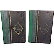 Vintage Set of 2 Volumes of Hebrew Language Books in Slipcover Circa 1930