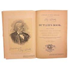 Autobiography and Personal Reminiscences of Major General Benjamin Butler 1892 Belonged to Descendant of Brig General William Seward Jr Antique Civil War Book