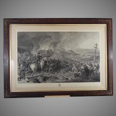Antique Sherman's March to the Sea Engraving in Elegant Wood Frame by F.O.C. Darley   Printed by L Stebbins 1868
