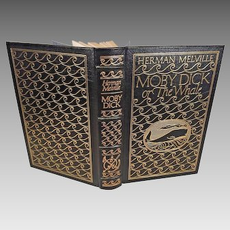 4 Leather Bound Books Easton Press and Other Publishers  Abraham Lincoln, Anton Chekhov Plays. Moby Dick and The Origin of Species   Gold Gilt Page Edges