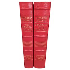 2 Volume Set of Andrew Jackson Easton Press Books by James Marquis 1985 Leather Bound Gold Gilt Page Edges Library of the Presidents Series