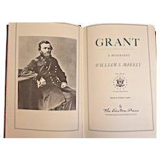 "Easton Press Book ""Grant"" by William McFeely 1987 Leather Bound 22k Gold Gilt Page Edges The Library of the Presidents Series"