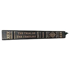 """""""The Trial of the Templars"""" by Malcolm Barber 1997 Leather Bound Gold Gilt Pages The Notable Trials Library Cloth & Leather Bound Hardcovers, 22k Gold Gilt Page Edges"""