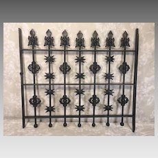 Piece of Wrought Iron Fence Gate Nicely Detailed Repainted