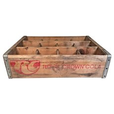 Vintage Nehi Royal Crown Cola Wood and Metal Soda Case Scranton PA  Advertising Soda Memorabilia