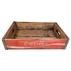 Vintage Coca-Cola Wood and Metal Soda Case Charleston SC 1980  Advertising Soda Memorabilia