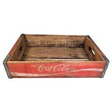Vintage Coca-Cola Wood and Metal Soda Case Charleston SC 1980  Advertising Soda Memorabilia