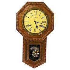 Antique Seikosha Wall Regulator Clock Time & Strike Runs