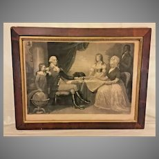 Historic Americana  The Washington Family After Edward Savage Painting Engraved by J Sartain 1850