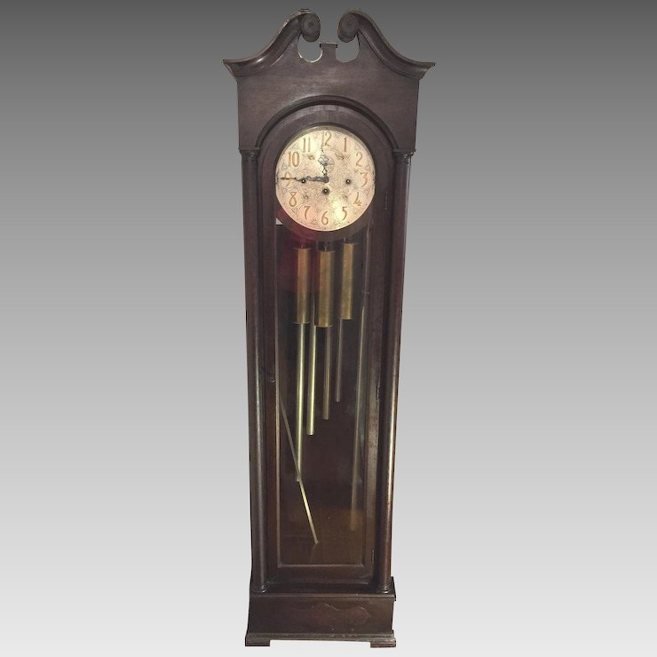 Vintage Colonial Model 1353 Grandfather Clock 5 S Not Running