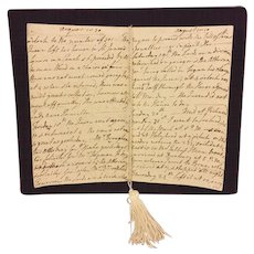 Antique Diary of Woman in Aristocracy in France, England Ireland 1819 to 1821 24 Pages in Length
