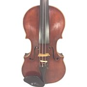 Antique Johan Martin Hofman Violin w/ Case 1 Piece Belly and Back